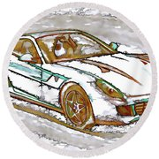 Ferrari 1 Round Beach Towel