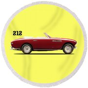 Ferrari 212 1951 Round Beach Towel