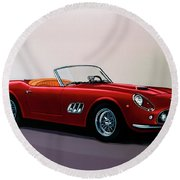 Ferrari 250 Gt California Spyder 1957 Painting Round Beach Towel