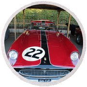 Ferrari 250 Gt Tour De France Round Beach Towel