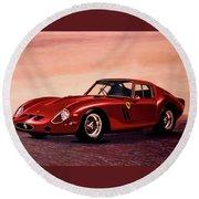 Ferrari 250 Gto 1962 Painting Round Beach Towel