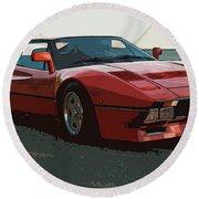 Ferrari 288 Gto - Powerslide Round Beach Towel