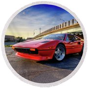 Ferrari 308 Round Beach Towel