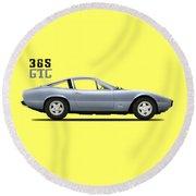 Ferrari 365 Gtc-4 Round Beach Towel