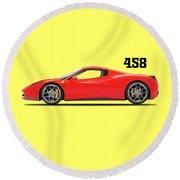 Ferrari 458 Italia Round Beach Towel
