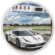Ferrari 458 Round Beach Towel