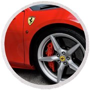 Ferrari 488gtb Round Beach Towel
