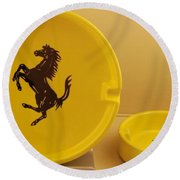 Ferrari Ash Catchers Round Beach Towel