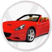 Ferrari California Round Beach Towel