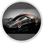 Ferrari Concept Black Round Beach Towel