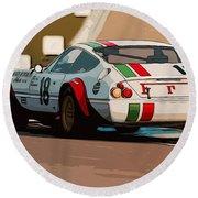Ferrari Daytona - Italian Flag Livery Round Beach Towel