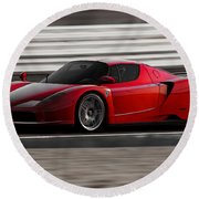 Ferrari Enzo - Rosso Corsa Round Beach Towel