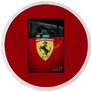 Ferrari F1 Sidepod Emblem Round Beach Towel