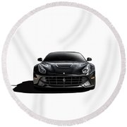 Ferrari F12 Berlinetta Round Beach Towel