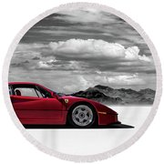 Ferrari F40 Round Beach Towel by Douglas Pittman