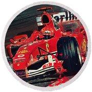 Ferrari - Michael Schumacher  Round Beach Towel