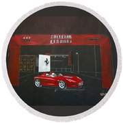 Ferrari Pininfarina Rossa Concept Round Beach Towel