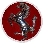 Ferrari Stallion Round Beach Towel