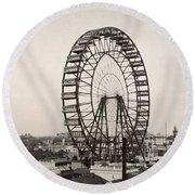 Ferris Wheel, 1893 Round Beach Towel