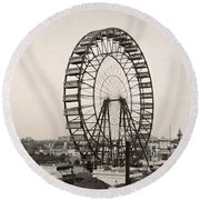 Ferris Wheel, 1893 Round Beach Towel
