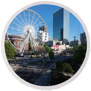 Ferris Wheel Atl Round Beach Towel