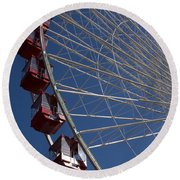 Ferris Wheel Iv Round Beach Towel