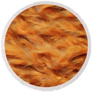 Ferrous Water Stream Round Beach Towel