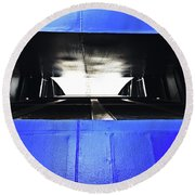 Ferry Abstract Round Beach Towel