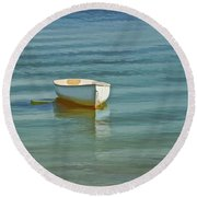 Ferry Landing Dinghy Round Beach Towel