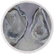 Ferry Oysters Round Beach Towel