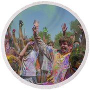 Festival Of Color Round Beach Towel