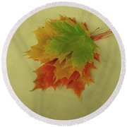 Feuilles D'automne I / Fall Leaves I Round Beach Towel