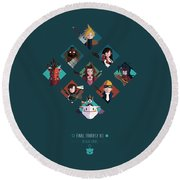 Ff Design Series Round Beach Towel