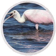 Fishing For Dinner Round Beach Towel