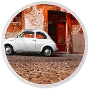Fiat 500 Round Beach Towel