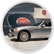 Fiat 124 Spider Round Beach Towel