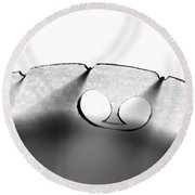 Fiddle Bridge Round Beach Towel