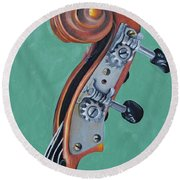 Fiddle Iv Round Beach Towel