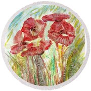 In The Field Round Beach Towel