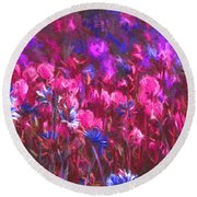 Field Of Dreams Abstract Round Beach Towel