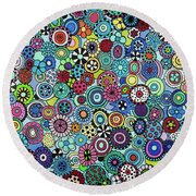 Field Of Blooms Round Beach Towel