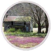 Field Of Lavender  Round Beach Towel