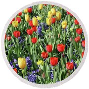 Fields Of Beauty 62 Round Beach Towel