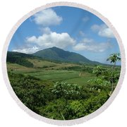 St. Kitts Fields Of Cane Round Beach Towel