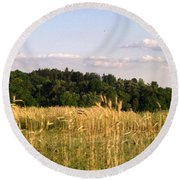 Fields Of Grain Round Beach Towel