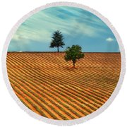 Fields Of Provence Round Beach Towel
