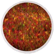 Fields On Fire Round Beach Towel