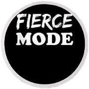 Fierce Mode Health Fitness Exercise Round Beach Towel