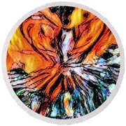 Fiery Crystal Round Beach Towel
