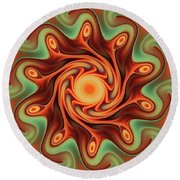Fiery Dance Round Beach Towel